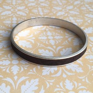🌸3for$15 Silver and Leather Bangle